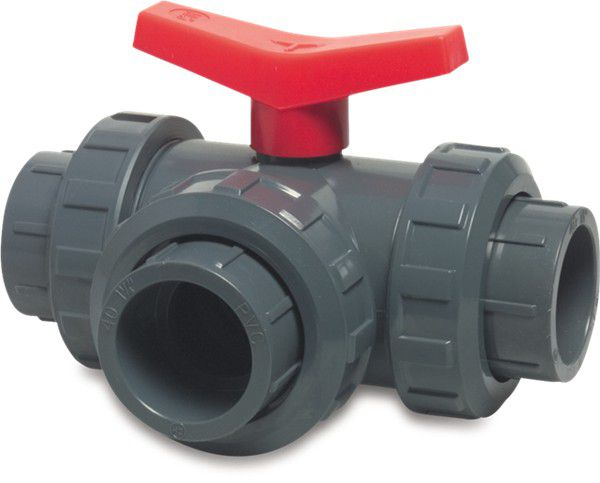 PVC 3-weg kogelkranen